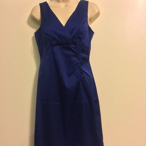 Donna Ricco New York Plus Size Blue Stretch Cotton Sleeveless Party Dress NWT